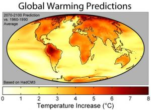What categories should i use to write an essay about effects of global warming?